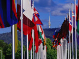 International Flag Display at Commonwealth Place and Telstra Tower on Black Mountain