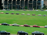 Cars on Esplanada De Los Ministerios