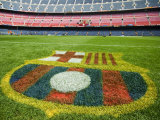 Coat of Arms of Futbol Club Barcelona at Camp Nou Stadium
