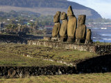 Moai Statues of Ahu Vai Uri