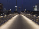 Holbeinsteg Pedestrian Bridge over River Main at Night