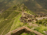 Stone Ruins at Pisac National Park Sacred Valley of the Incas