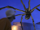 Giant Metal Spider Sculpture at Guggenheim Museum