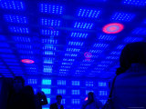People Inside Neon-Lit Room at Top of the Rock  Rockefeller Center  Midtown