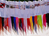 T-Shirts and Sarongs for Sale at Stall on Beach at Long Bay