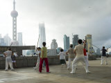 Tai Chi on the Bund Promenade