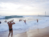 Swimmers at Basin Beach  Bogin Bogin Bay  Northern Beaches