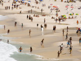 People Enjoying the Beach and Surf at Ipanema Beach