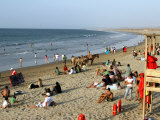 Beach at Mancora  a Popular Playground for Peruvians and Foreign Tourists