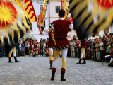 Italian Men Wearing Renaissance Dress with Banner During Gold Trail Festival