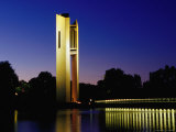 National Carillon Reflected in Lake Burley Griffin at Dusk