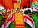 Detail of Traditional Costume at the Jidai Matsuri Festival