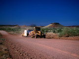 Grader Heads Out Near Nullagine in Western Australia