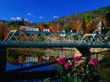 Famous Bridge of Flowers That Spans the Deerfield River in Shelburne Falls  Massachusetts