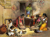 Mexican Women Making Tortillas  1800s