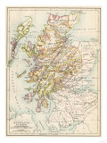 Map of Scotland in the 1520s  Showing Territories of the Highland Clans