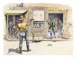 Gunfight in the Street of a Western Town