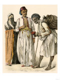 Egyptian Couple Buying a Drink from a Water-Seller in Port-Said  Egypt