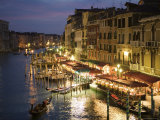 Grand Canal at Dusk  Seen from Rialto Bridge