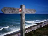 Signpost on North Norfolk Coast Path  at Sheringham