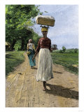 Jamaica Woman on Her Way to Market  1890s