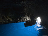 Rowboat Inside Blue Grotto