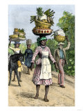 Native People on their Way to Market in Kingston  Jamaica  c1890