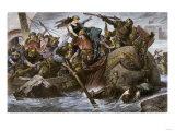 Viking Raid Along the English Channel Led by Olaf Tryggvason  900s Ad