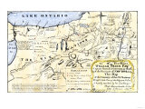 Map of the Six Iroquois Nations in Pennsylvania and New York  1771