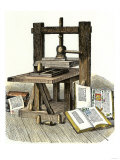 Gutenberg&#39;s Printing Press  Mainz  Germany  1450s