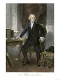 Alexander Hamilton at His Desk  Full Portrait  with Autograph