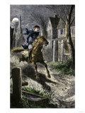 Paul Revere's Ride to Awaken the Minutemen of Lexington  Massachusetts  April 19  1775