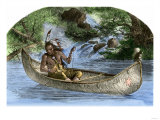 Hiawatha Fishing from a Canoe