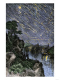 Remarkable Meteor Shower over the Mississippi River  1833