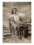 Red Cloud  or Mahpiua Luta  Oglala Sioux Chief  in Quilwork Shirt  1890s