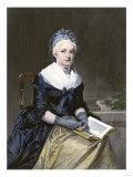Martha Washington  Seated  with a Book
