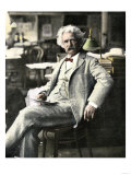 Samuel Clemens in New York Visiting His Publishers  1900s