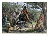 Tecumseh Defends the Whites at Fort Meigs  Ohio  Besieged by British Forces in the War of 1812