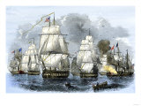 US Navy Squadron Commanded by Matthew Perry Sailing for Japan  1852  including USS Susquehannah
