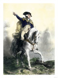 General George Washington in Battle on Horseback  Revolutionary War