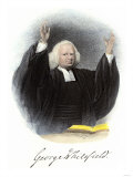 Methodist Evangelist George Whitefield  with His Autograph