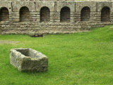Remains of Roman Bathhouse at Chesters Fort Along Hadrian's Wall  Northumbria  England