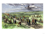 Immigrants and Other Workers Laying Track for the Transcontinental Railroad across Nebraska  1860s