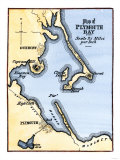 Plymouth Bay on the Northern Coast of Cape Cod  Massachusetts