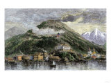 Sitka  or New Archangel  Capital of Alaska in 1869  When Purchased from Russia