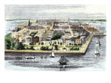 Bird's-Eye View of Charleston  South Carolina  in the Mid-19th Century