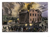 Pro-Slavery Mob Burning the Print-Shop of Abolitionist Elijah P Lovejoy  Alton  Illinois  1835