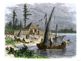 William Claiborne's Trading Post on Kent Island in Chesapeake Bay  1631