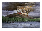 Eruption of Mauna Loa  Hawaii  Viewed from the Sea  1870s