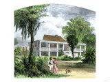A Plantation Home in Mississippi before the Civil War